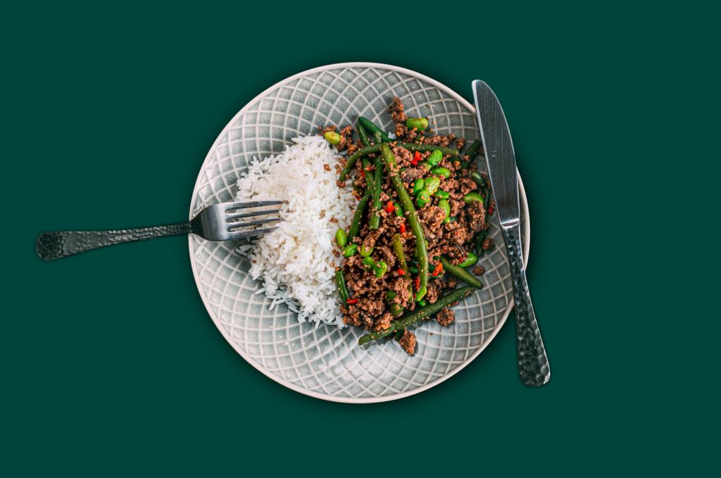 Chili Beef mit Reis
